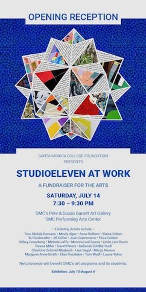 "StudioEleven at Work"",  an exhibition fundraiser for the arts"