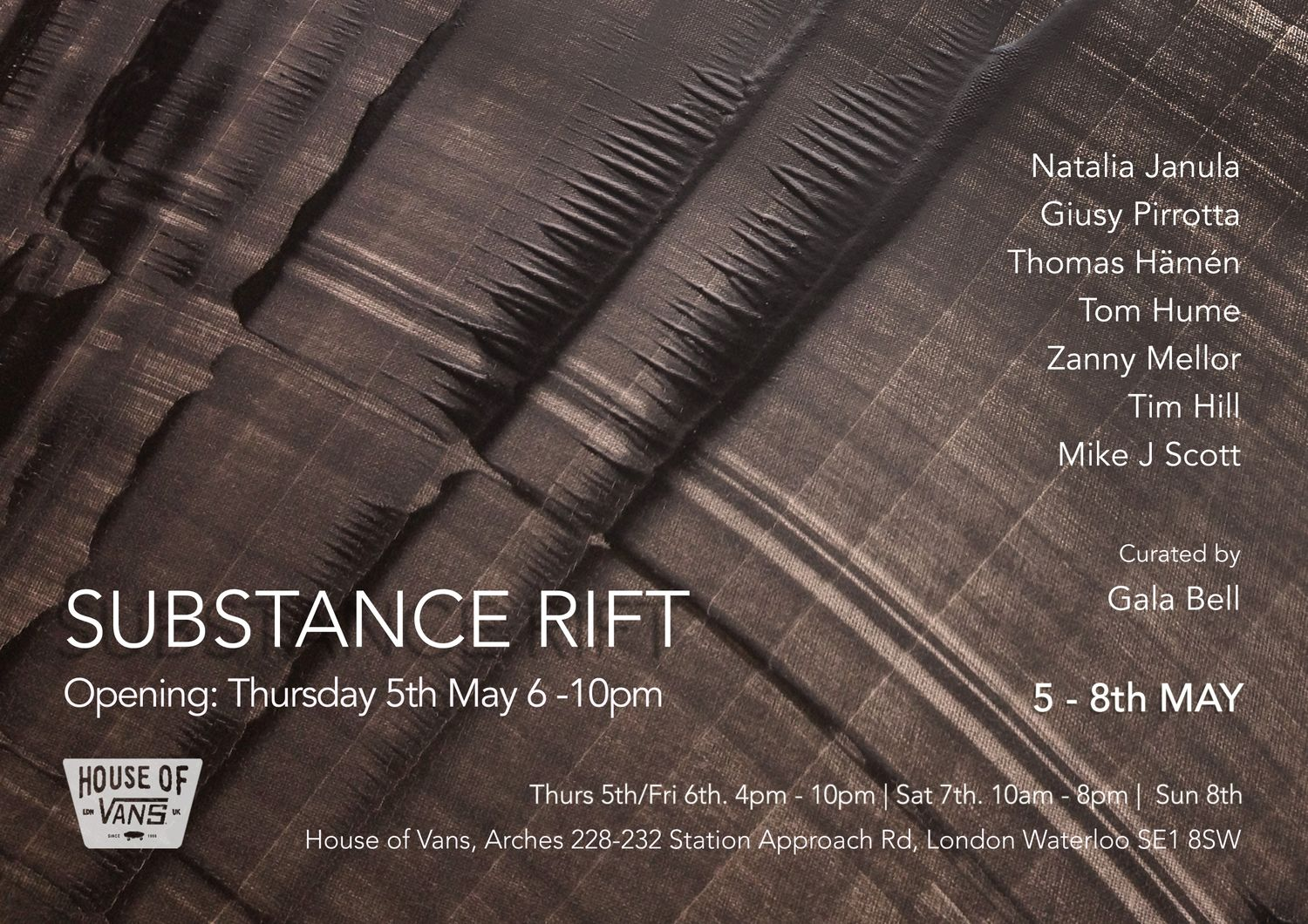 Substance Rift - Exhibition at House of Vans London in London