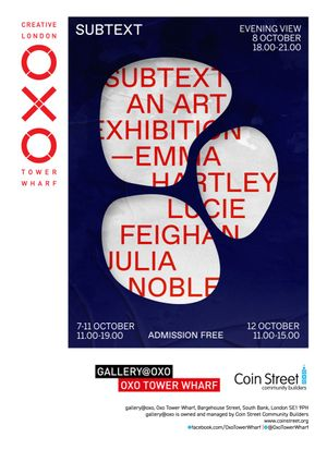 Subtext: An Art Exhibition invite