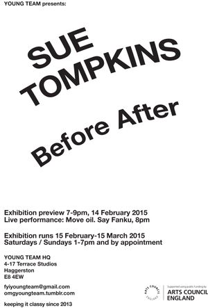 Sue Tompkins: Before After