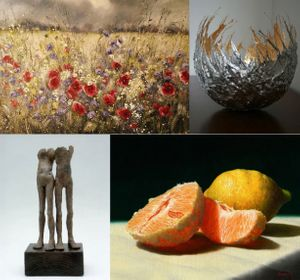 New pieces in the Summer exhibition, by our gallery artists