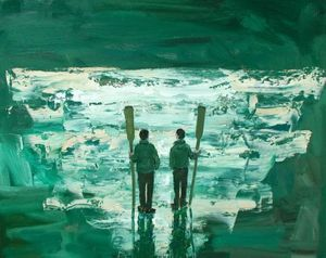 Stuart Buchanan, 'Outward Bound', Oil on Board, 71 x 91cm