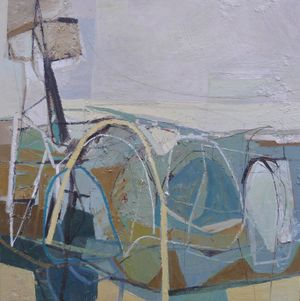 Steel Fields. Oil on board 60x60cm by Leigh Davis