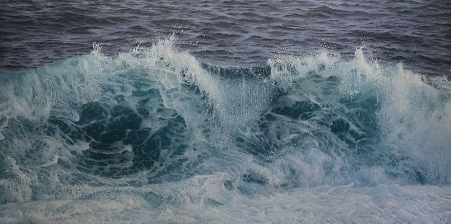 Antonis Titakis 'Seascape' Oil on canvas, 100 x 200 cm