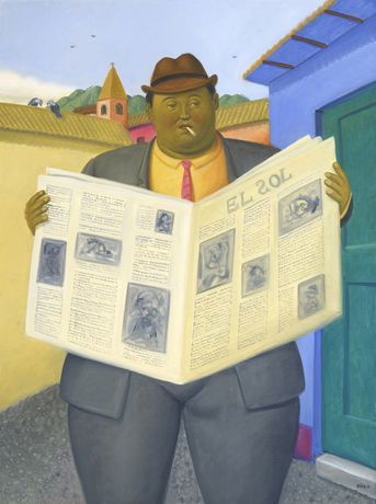 The Reader, 2013 - Fernando Botero