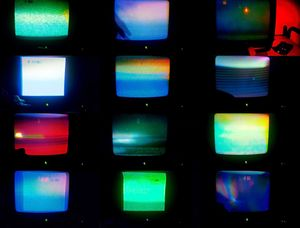 Susan Hiller & Robin Klassnik, 'Running on Empty', 2017. Stills from single channel video on monitor with sound. Courtesy of the estate of Susan Hiller and Matt's Gallery, London.