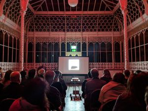 Performance of X…The Unexplained by Dan Byrne-Smith at the Horniman Museum, London. October, 2018. Image courtesy of the Horniman Museum and Gardens.