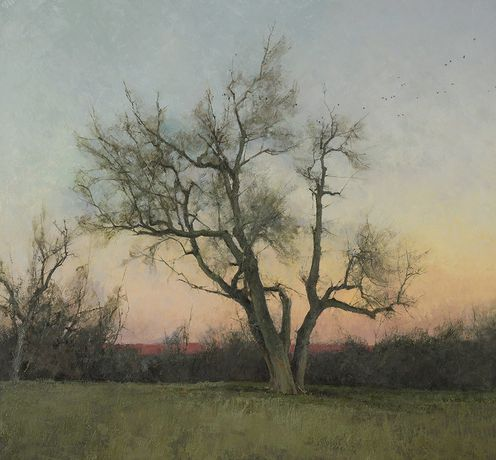 Evening, oil on panel, 28 x 30ins (71.1 x 76.2cm), by T. Allen Lawson