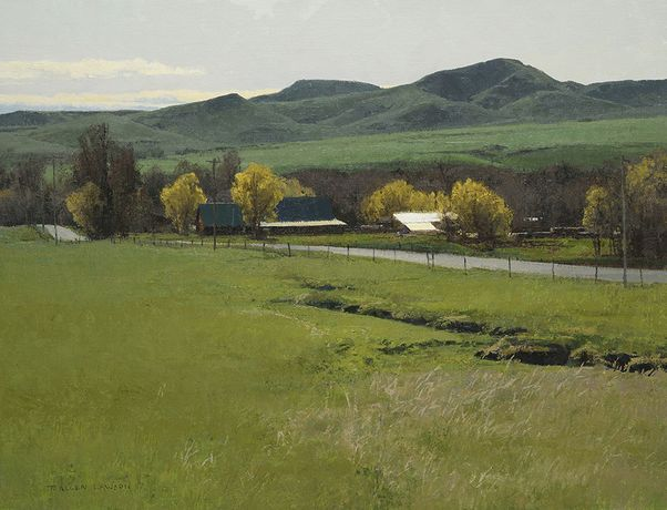 Spring Greens, oil on linen over panel, 20 x 26ins (51 x 66cm), by T. Allen Lawson
