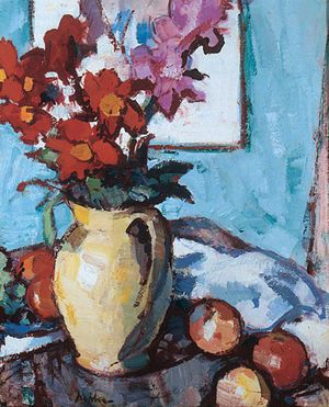 Dahlias and Gladioli, Samuel Peploe