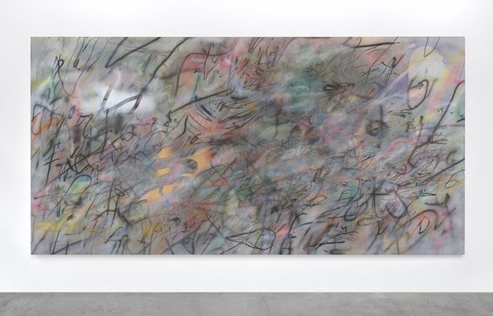 Tacita Dean, A Love Supreme Ink and acrylic on canvas — 228,6 × 457,2 cm Courtesy Julie Mehretu and Marian Goodman Gallery, New York, Paris, London / crédit: Rebecca Fanuele