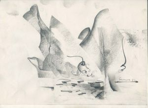 Vidya Sagar, Untitled, 1992-1993 Graphite on Paper,  10. 22cm x 29.8cm Courtesy of Anjalika and Jyoti Sagar