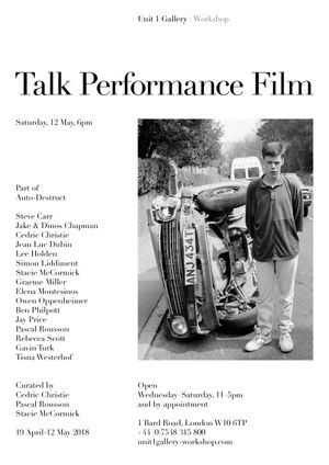 Talk, Performance and Film