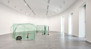 Tatiana Trouvé works installed at Gagosian Rome. Artworks © Tatiana Trouvé. Photo: Matteo D'Eletto
