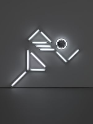 Ivan Navarro, Nowhere Man I, 2009. © The Artist. Towner Collection. Towner Art Gallery, Eastbourne
