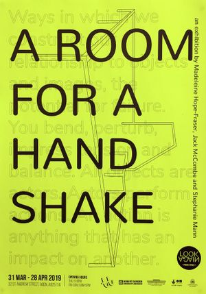 Tendency Towards presents: A Room For A Handshake