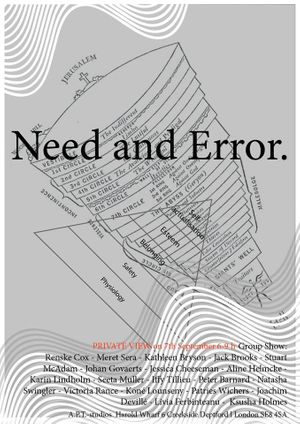 Teststripfilms and co-curator Iffy Tillieu present - ' NEED AND ERROR' -