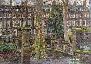 Lonon Plane Trees in Paddington Gardens by Melissa Scott-Miller