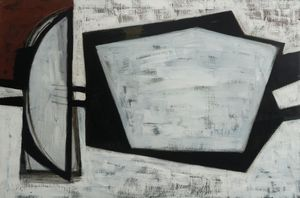 Wilhelmina Barns-Graham, White, Black and Terracotta