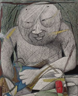 Chen Li, Human Buddha, reduction woodblock print, Edition of 25