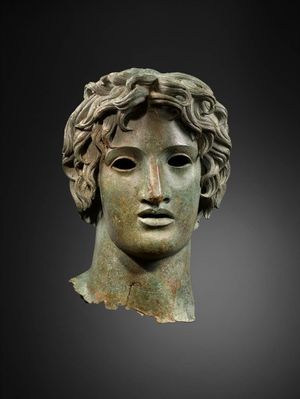 Bronze head of Apollo (first or second century AD),36.9cm (height). Copyright Museum of Classical Art (MACM)