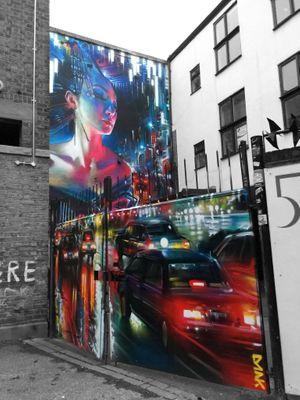 Dan Kitchener (DANK) at 5th Base Gallery Brick Lane London