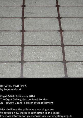 THE CRYPT GALLERY ARTISTS RESIDENCY 2014: BETWEEN TWO LINES: Image 0