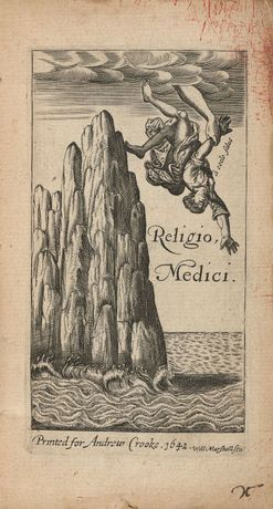 Frontispiece, Religio Medici, by Sir Thomas Browne (c) Royal College of Physicians