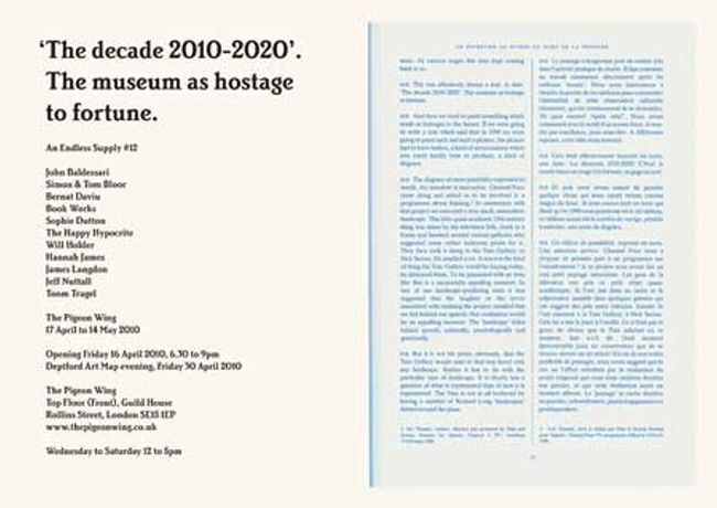 The decade 2010-20. The museum as hostage to fortune. An Endless Supply #12: Image 0