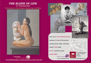 'The Elixir of Life' contemporary painitngs and drawings exhibition