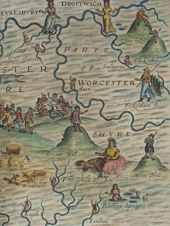 William Hole, Detail of Gloucestershyre, Poly-Olbion, 1612