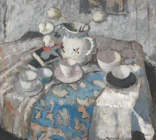Anne Redpath, Pink & Grey Still Life. Courtesy of The Fine Art Society