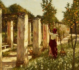 La Thangue, The Orange Grove. Courtesy of The Fine Art Society