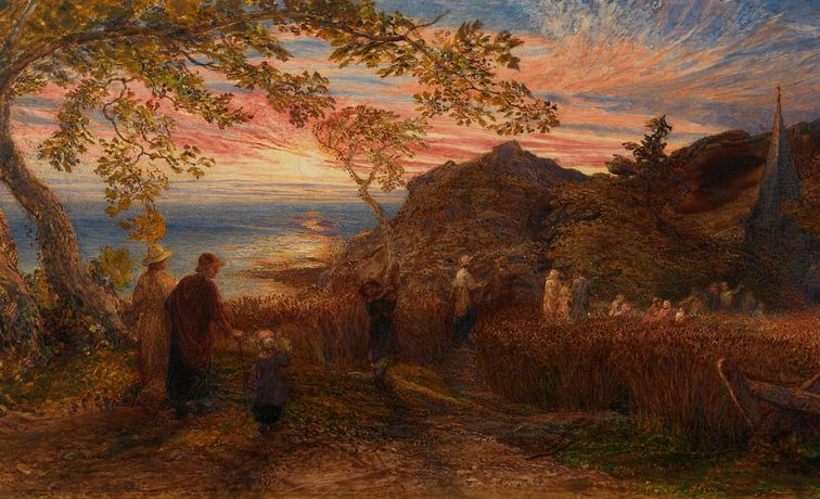 Samuel Palmer, Going To Evening Church. Courtesy of The Fine Art Society