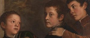 Detail from Titian, The Vendramin Family, about 1540–45
