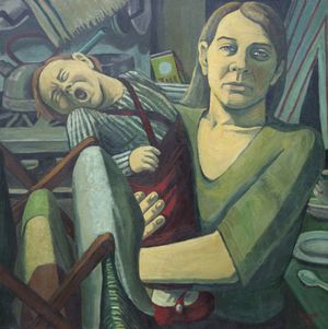 Maureen Scott: Mother and Child at Breaking Point (1970), image courtesy Museum of the Mind