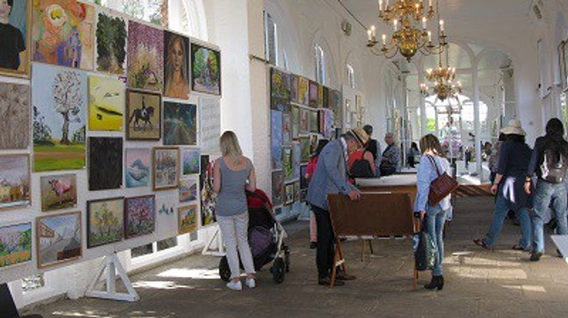 The friends of holland park exhibition at the orangery in london