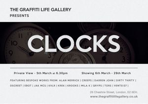 The Graffiti Life Gallery Presents 'CLOCKS'