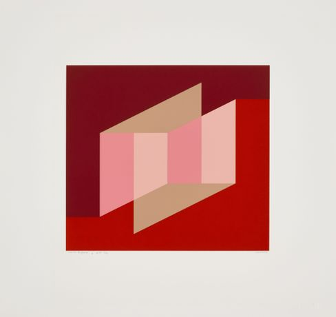 Josef Albers; Never Before j, screenprint, 1976. © 2019 The Josef and Anni Albers Foundation.