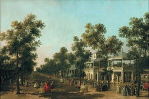 Canaletto  The Grand Walk, Vauxhall Gardens, c. 1751 © Compton Verney Art Gallery & Park. Photo: Prudence Cuming Associates