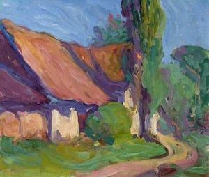 Robert Bevan, Back of the Granary, Poland, 1904