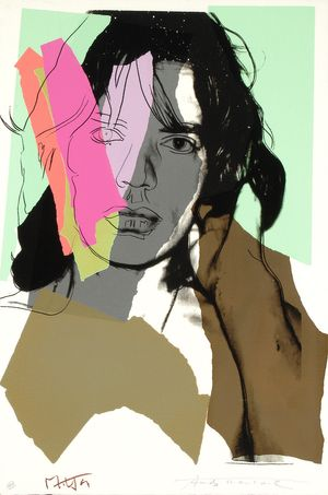 Andy Warhol, Mick Jagger, 1975 (#140) hand-signed screenprint, 43.5 x 29 inches