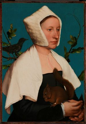 Hans Holbein the Younger, A Lady with a Squirrel and a Starling (Anne Lovell?), © The National Gallery, London. Bought with contributions from the National Heritage Memorial Fund and The Art Fund and Mr J. Paul Getty Jnr (through the American Friends of The National Gallery, London), 1992