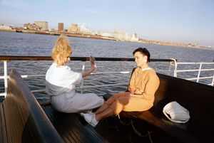 Mersey Mirror, From 'The Pier Head' Series, 1989 © Tom Wood