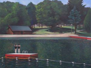 Richard Barrett, Lake Placid, Oil on Canvas, 163 x 122 cms (64 x 48 inches)