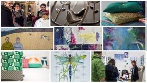 A selection of artist's works and photos from Open Studios