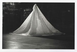 Photographic documentation of A Good Wind, (retitled A Poet's Narrative) a performance involving multiple voices at Riverside Studios, 1977 (image by Topham Vickers, courtesy of Carlyle Reedy)