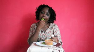 Zina Saro-Wiwa, Table Manners, 'Grace Eats Garden Egg and Groundnut Butter', 2014–ongoing