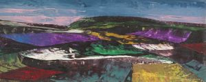 Ron Embleton - Purple Landscape