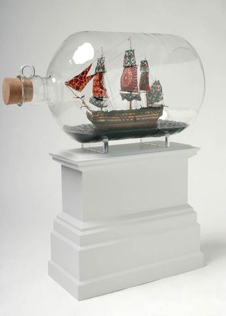 THE UNVEILING OF THE NEW FOURTH PLINTH COMMISSION: 'Nelson's Ship in a Bottle' by Yinka Shonibare, MBE: Image 0